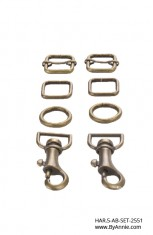 "1/2"" antique brass - Hardware Set 2551"