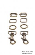"""½"""" antique brass - Hardware Set 2551"""