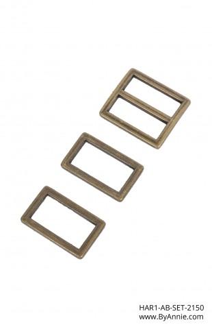 """1"""" antique brass - Hardware Set 2150"""