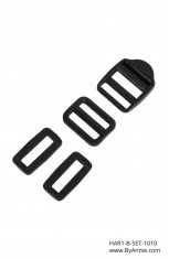 "1"" black plastic - Hardware Set 1010"