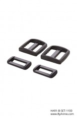 "1"" black plastic - Hardware Set 1100"