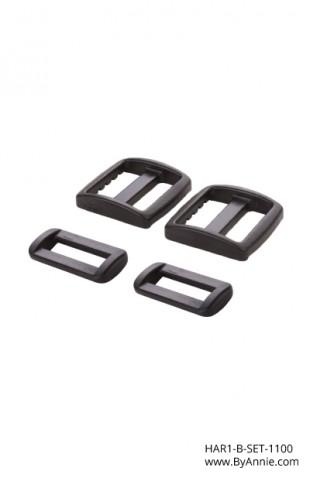 1in black plastic - Hardware Set 1100