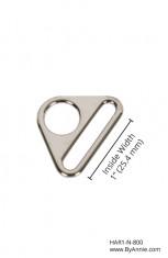 "1"" nickel - Triangle ring, flat"