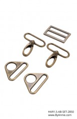 1-1/2 inch - Antique Brass - Set 2850