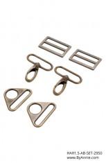 1-1/2 inch - Antique Brass - Set 2950