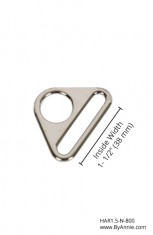 1-1/2 inch - Nickel - Triangle ring, flat
