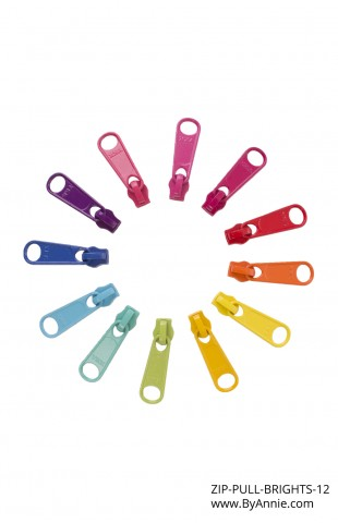 Zipper Pull Set - Brights