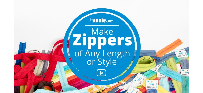 Learn To Create Zippers of Any Length or Style!