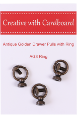 Antique Golden Drawer Pulls with Ring