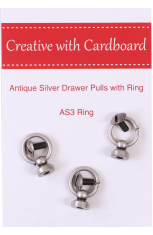 Antique Silver Drawer Pulls with Ring
