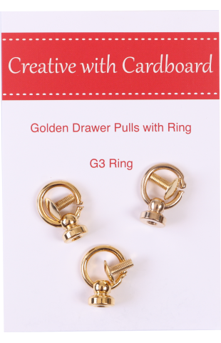 Golden Drawer Pulls with Ring