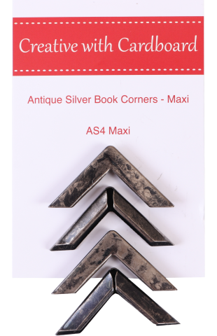 Antique Silver Book Corners Large