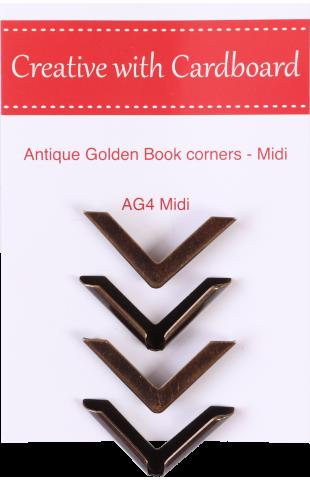 Antique Golden Book Corners Medium