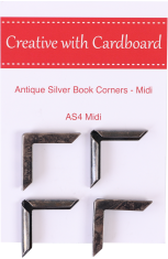 Antique Silver Book Corners Medium