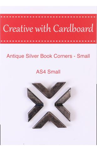 Antique Silver Book Corners Small