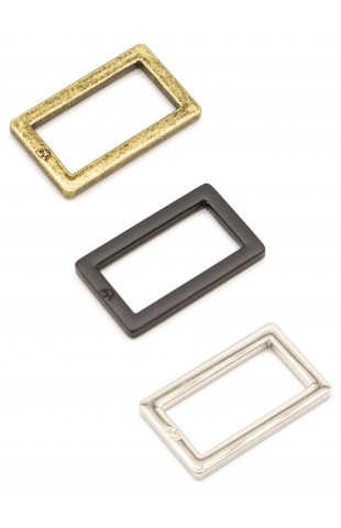 "1"" Rectangle Ring - Flat, Set of Two"