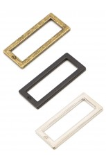 "1-1/2"" Rectangle Ring - Flat, Set of Two"