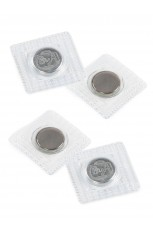 """Magnetic Snap Set, Invisible, Sew-In - 14MM (⅝"""") - Nickel, Set of Two"""