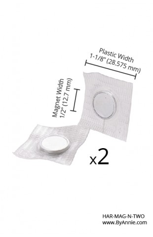 """Magnetic Snap Set, Invisible, Sew-In - 14MM (5/8"""") - Nickel, Set of Two"""