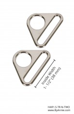 "1-1/2"" Nickel - Triangle Ring, Flat, Set of Two"