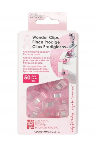 Wonder Clips - 50 pack - Pink for Breast Cancer