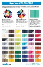 Zipper Color Card