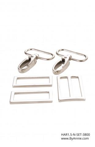 1-1/2 inch - Nickel - Set 3800