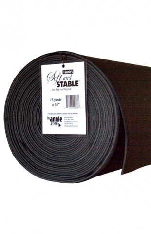 "ByAnnie's Soft and Stable ROLL 15 yard x 58"" black"