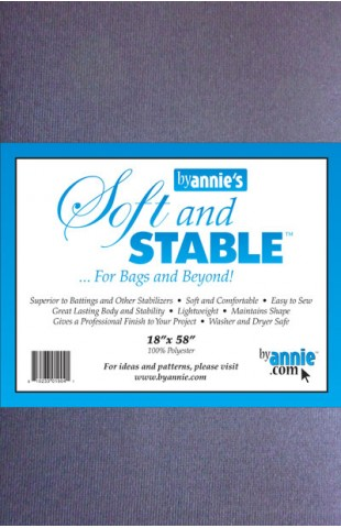 "ByAnnie's Soft and Stable 18"" x 58"" black"
