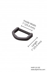 "1"" black plastic - D-ring"