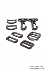 "1"" black - Hardware Set 1000"