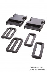"2"" black plastic - Hardware Set 1200"