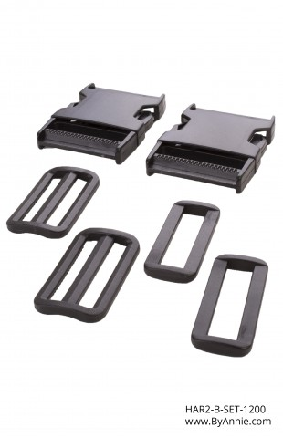 "2"" black plastic - Hardware Set 1200"