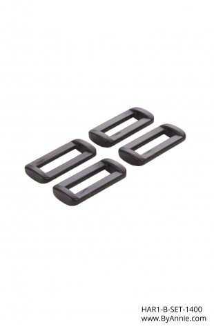 1in black plastic - Hardware Set 1400 (OUT OF STOCK)