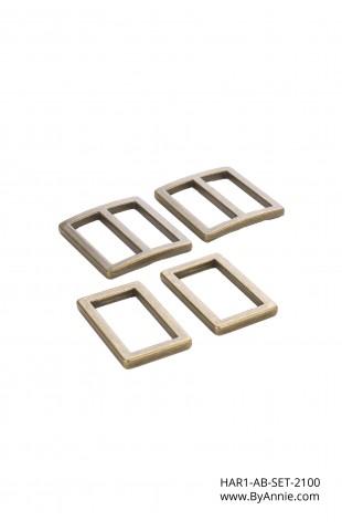 """1"""" antique brass - Hardware Set 2100"""