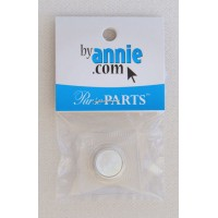 """Magnetic snap set, invisible, sew-in - 14mm (5/8"""") - nickel"""
