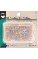Pins, extra-long, yellow-head