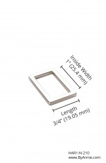 "1"" nickel - Rectangle Ring, flat"