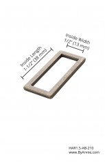 """1-1/2"""" antique brass - Rectangle ring, flat"""