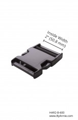 "2"" black plastic - Side release buckle"