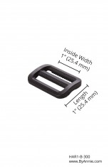 "1"" black plastic - Slider"