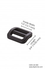 "1/2"" black plastic - Slider"