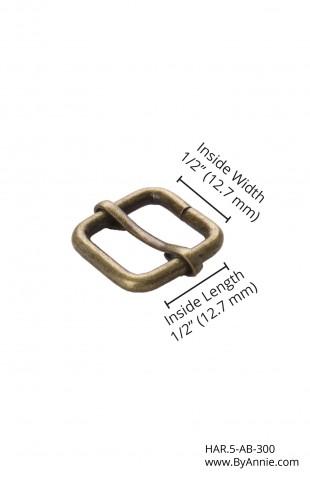"""1/2"""" antique brass - Slider"""