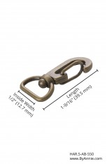 "1/2"" antique brass - Swivel Hook (Spring-Snap) (OUT OF STOCK)"