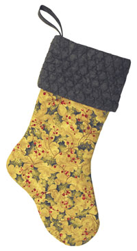 This Sweet & Simple stocking has a texturized cuff.