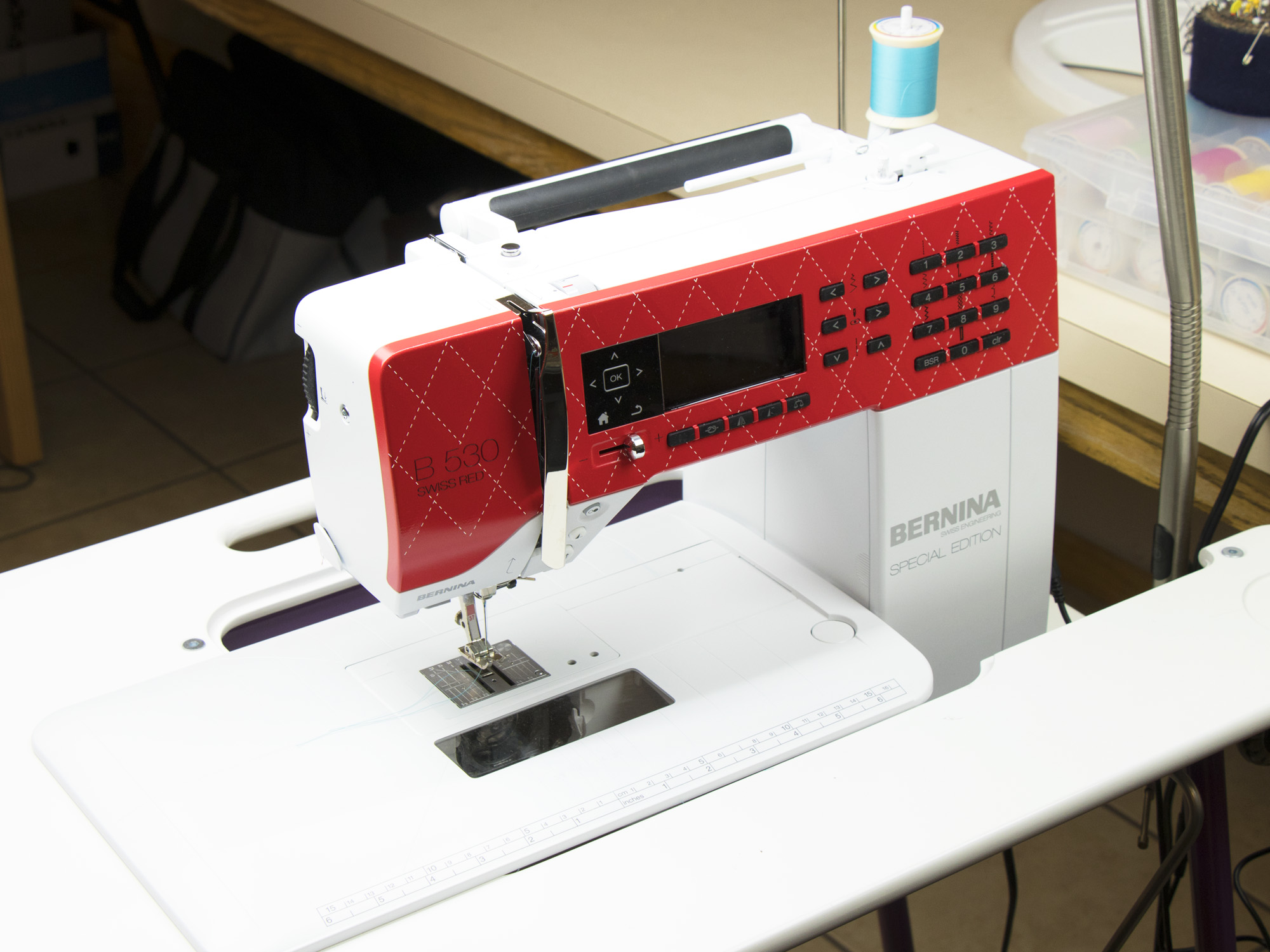 Machine maintenance and upkeep note several ladies in the byannie sewing studio commented on how they love tables which allow you to drop the sewing machine down into the table watchthetrailerfo