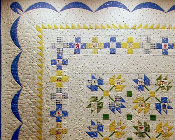 Quilting detail on Myrtle Creek Memories