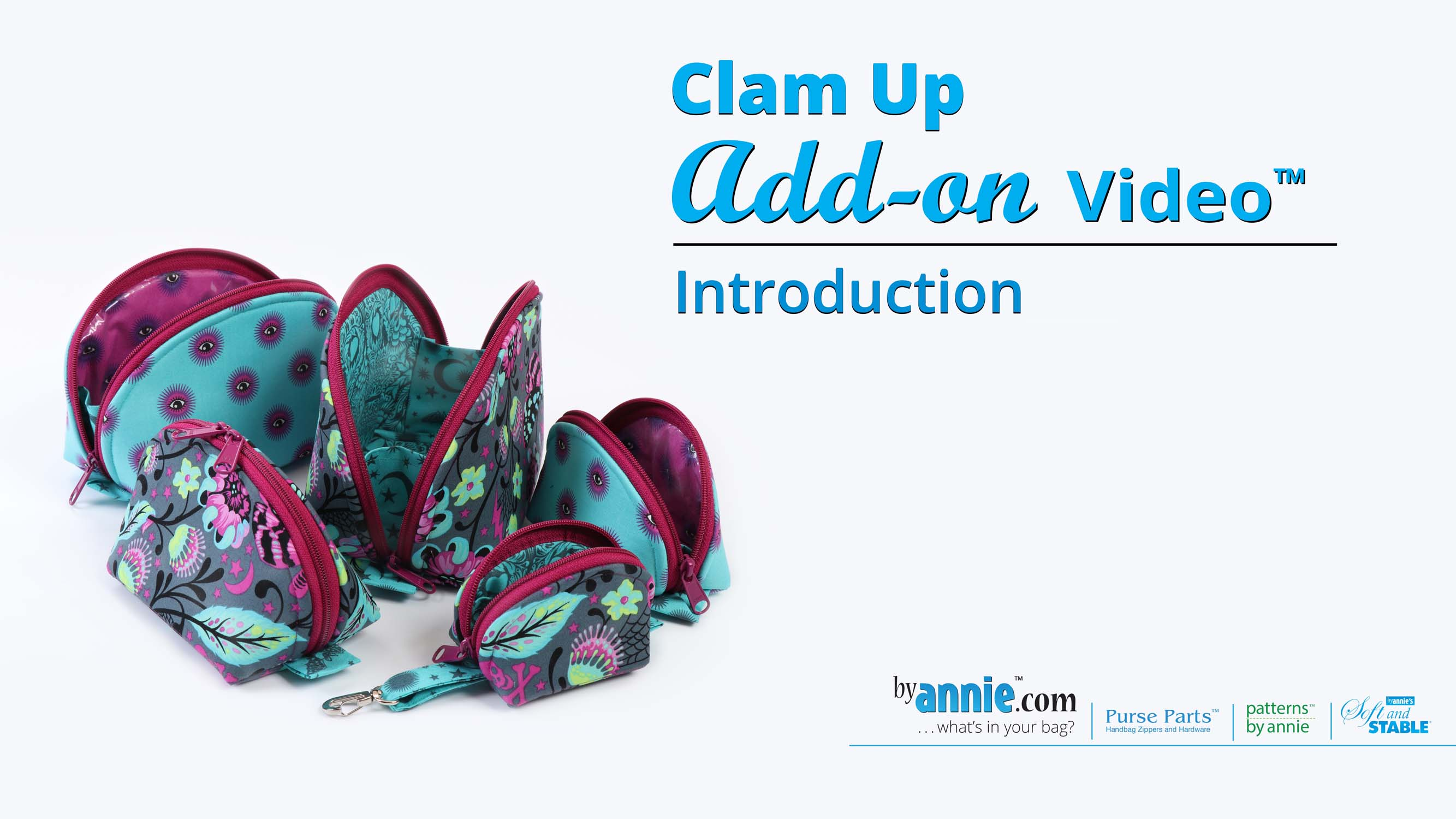 with free tutorial Video Coupon! ByAnnie Clam Up Pattern 5 different sizes