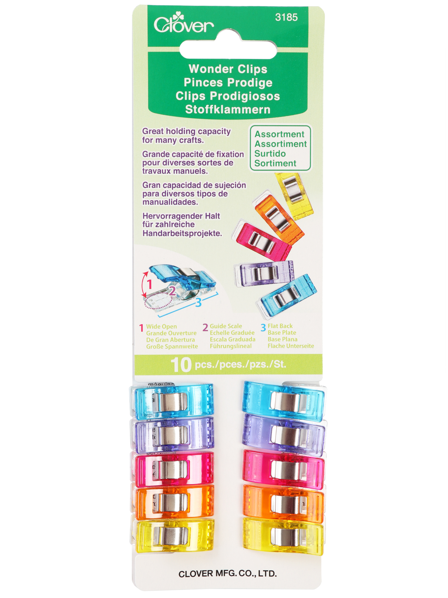 Wonder Clips 10 Pack Assorted